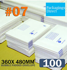 500x Padded Bag 01 Bubble Envelope 160 X 230mm White Printed