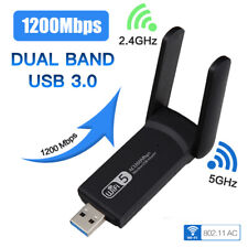 WiFi 1200Mbps WLAN-Adapter USB 3.0 Stick Wireless LAN Dongle 2.4Ghz & 5Ghz Band