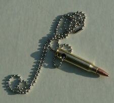 Awesome Jewelry, Genuine M16 Rifle Bullet Necklace. Made in USA