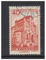 Monaco - 1949/59, 40f Scarlet stamp - F/U - SG 401