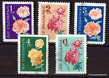 BULGARIE  TIMBRES sur les Fleurs ROSES      98M24