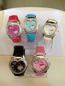 135: PCA 14  * Hello Kitty Heart Shaped Diamante Watch *