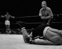 1957 Title Fight SUGAR RAY ROBINSON KOs Gene Fullmer 8x10 Photo Champion Print