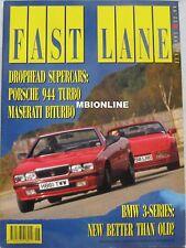 Fast Lane 06/1991 featuring Porsche 944, Maserati Biturbo, Alfa Romeo Cloverleaf