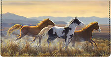 Hautman Brothers Wild Horses Leather Checkbook Cover