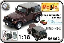 Jeep Wrangler Sahara Maisto 56662 1:18 Infra-Red - Diecast BNIB