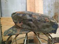 Military German Army Uniform Visor Hat Cap Camouflage Flecktarn Camo