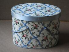 VINTAGE FLORAL SEWING KIT BOX WITH HANDLES AND REMOVABLE TOP COMPARTMENT
