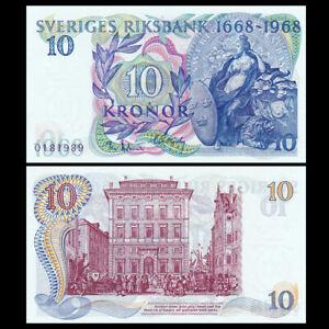 Sweden 10 Kronor, 1968, P-56, Comm, UNC