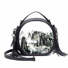 Mountains Women Retro Synthetic Leather Shoulder Bag Crossbody Bags Handbags