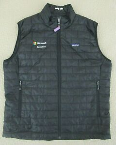 Gently Used Black PATAGONIA NANO PUFF Vest, Men's XXL, Microsoft Education 2017