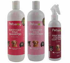 Petway Everyday Pink Grooming Kit Shampoo Conditioner Cologne Brush Dog Cat