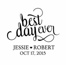 SAVE THE DATE 41mm Custom Wedding Stamp - Best day ever