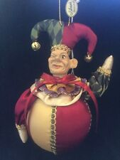 "Katherine's Collection Wayne Kleski Retired 6"" Jester Ball Ornament NOS (C)"