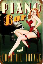 Piano Bar Pin-Up Vintage Metal Sign