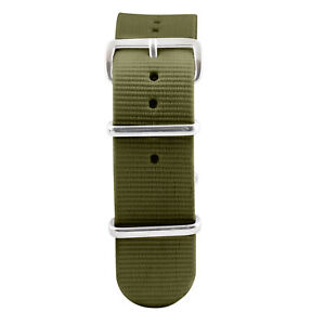 NATO Ballistic Nylon SS Military Solid Replacement Watch Strap / Band