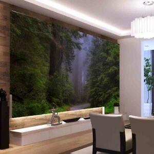 Dark Forest Trees Full Wall Mural Photo Wallpaper Printing 3D Decor Kid Home