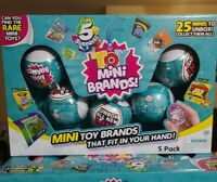 5 Surprise Toy Mini Brands Ball By Zuru - 5 Pack - IN HAND - FAST SHIPPING