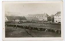 German Soldiers in formation Hameln vintage RPPC real photo Postcard