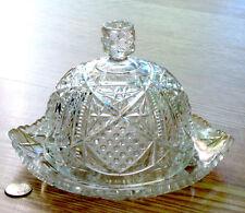 antique EAPG glass BUTTER DISH dome SUNBEAM pattern MCKEE & BROS. 1898