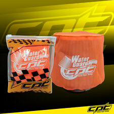 Universal Water Guard Cold Air Intake Pre-Filter Cone Filter Cover Orange Small