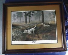 Pointers Bird Hunting Artist's Proof by Burton E. Moore, Jr., Inscribed & Framed