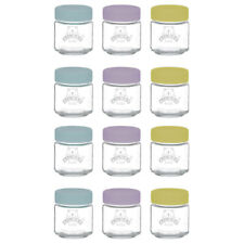 12x Kilner Kids 110ml Glass Jar Baby Food Storage Container/Canister w/ Lid Set
