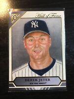 2020 Topps Gallery DEREK JETER New York Yankees Hall of Fame Card #HOFG-2