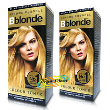 2x Jerome Russell BBlonde Honey Blonde Color Maximum Colour Toner Non Permanent