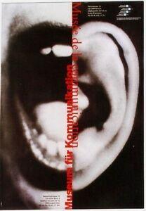 Original vintage poster SWISS MUSEUM OF COMMUNICATION 1999