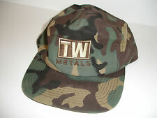 TW Metals Green Brown Camoflage Ball Cap Hat Embroidered Snapback Closure