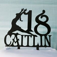 Acrylic Ballet dancer girl gymnastic dance birthday cake topper decorations