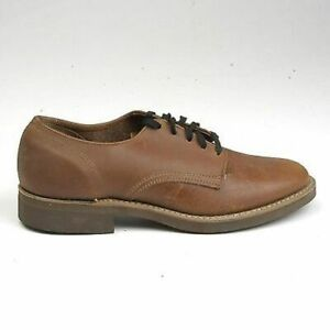 6 Mens Vintage 1960s 60s Brown Leather Suede Oxford Lace Up Shoes NOS Deadstock