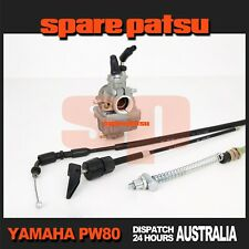 YAMAHA PW80 Peewee 80 Carby, Front Brake Cable, Choke Cable, Throttle Cable PY80