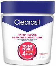 Clearasil Rapid Rescue Deep Treatment Cleansing Pads, 90 Count (Pack of 2)