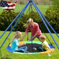 40'' Saucer Tree Swing Flying 660lb Multi-Strand Ropes Colorful and Safety Swing
