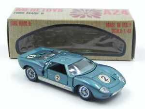 Mebetoys A24 Ford Mark II blu petrolio in scatola w/ box vintage die cast GT40