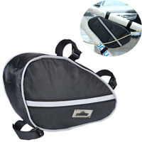 Cycling Bike Bicycle Front Tube Frame Pouch Bag Holder Saddle Pannier Holder