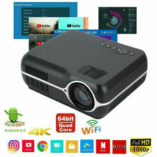 1080P Wifi Wireless Lcd Projector Hd Android Bluetooth Movie Home Theater Hdmi