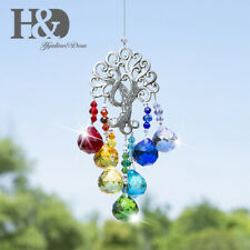 Handmade Life Tree Crystal Ball Prism Rainbow Maker Hanging Suncatcher Gift 20mm