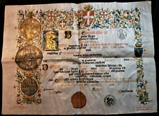 UNIVERSITY OF TURIN DIPLOMA IN THE NAME OF VICTOR EMMANUEL III - KING OF ITALY