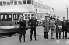 T698 Original 35mm photo NEGATIVE 1950s 60s Japan Hakone Line Ship water taxi