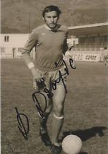 FOOTBALL Autographe Dragan DAJIC SEC Bastia