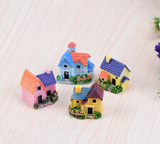 Resin Mini Fairy Garden Miniature House Cottage Micro Landscape Ornament Decor a