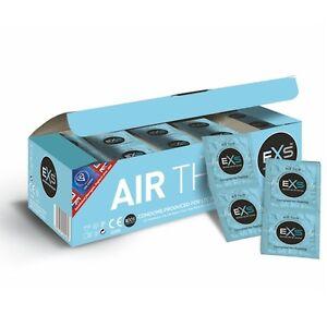 6- 12- 24- 48- 100 - EXS Air Thin Condoms - Thinner For Elite Feel  **Free P&P*