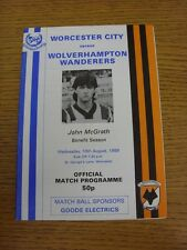 10/08/1988 Worcester City V Wolverhampton Wanderers [John McGrath vantaggio]. Tha