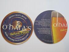Beer Bar Coaster ~ O'HARA'S Natural Blonde ~ Carlow Brewing, IRELAND Since 1996