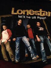 "Lonestar Tour ""Let's Be Us Again"" Black T-shirt Size Large Short Sleeves"