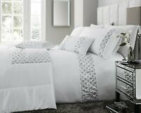 White Darcy Sequin Bedding Sets