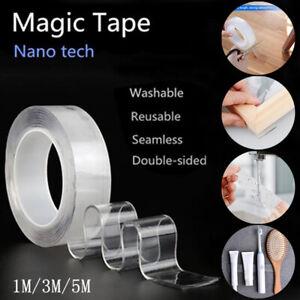 New Multi-Function Nano Magic Tape Transparent Reusable Traceless Fixed Double